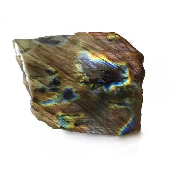 Purple Flash Labradorite with a Polished Surface