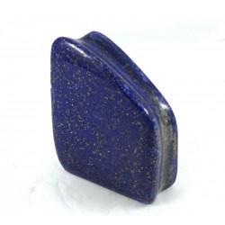 Carved Upright Lapis Lazuli One Side Unpolished