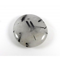 Black Tourmaline in Quartz Palmstone