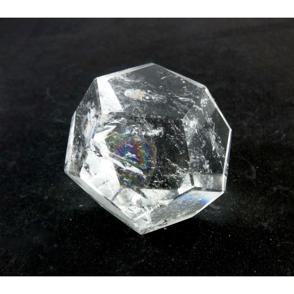 Clear Quartz Carved Dodecahedron