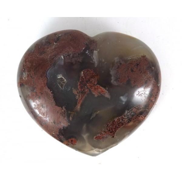 Part Translucent Agate Carved Heart