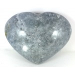 Blue Calcite Chunky Heart