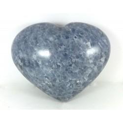 Blue Calcite Chunky Heart