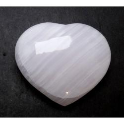 Pink Mangano Calcite Heart
