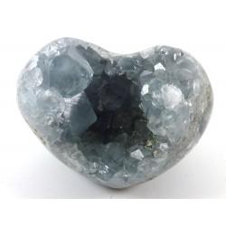 Celestite Crystal Heart