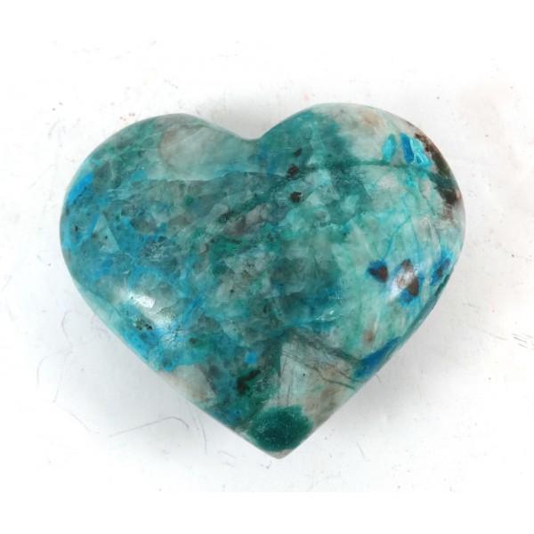 Chunky Polished Chrysocolla Heart