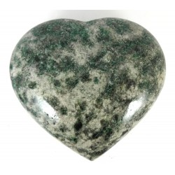 Chunky Polished Large Fuschite Heart