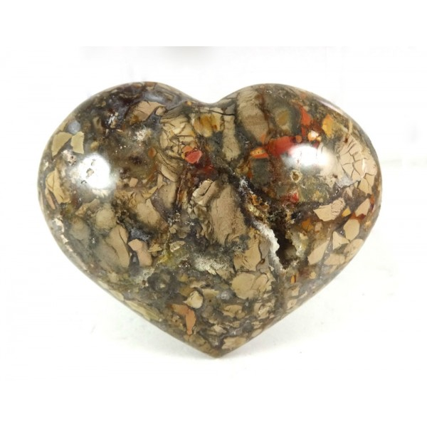 Chunky Polished Jasper Heart