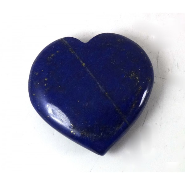 Drilled Lapis Lazuli Polished Heart