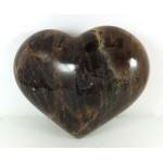 Black Moonstone Polished Heart
