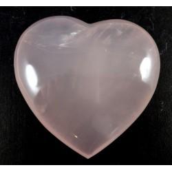 Milky Rose Quartz Heart