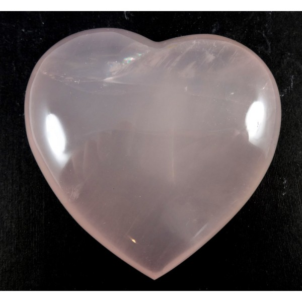 Milky Rose Quartz Heart