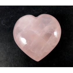 Pink Rose Quartz Polished Chunky Heart