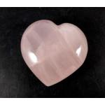 Pink Rose Quartz Polished Chunky Heart