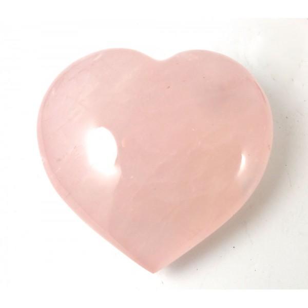 Polished Rose Quartz Heart