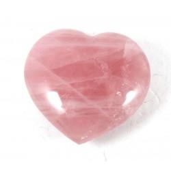 Pink Rose Quartz Polished Heart