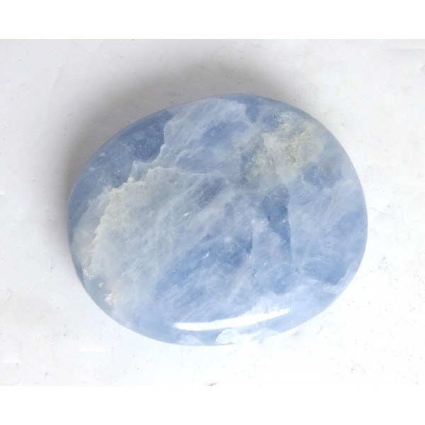 Blue Calcite Polished Pebble