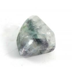 Green Purple Fluorite Pebble
