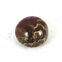 Plum Orbicular Jasper Pebble