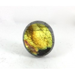Golden Labradorite with Purple Stripe Dragons Egg