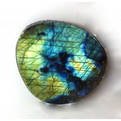 Yellow and Blue Labradorite Dragons Egg