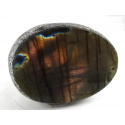 Colourful Gold and Purple Labradorite Dragons Egg