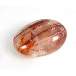 Hematite in Quartz Freeform Pebble
