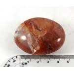 Hematite in Quartz Pebble