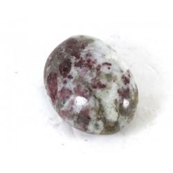 Rubellite with Quartz Pebble