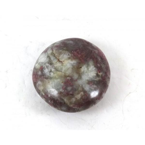 Red Tourmaline in Quartz Pebble