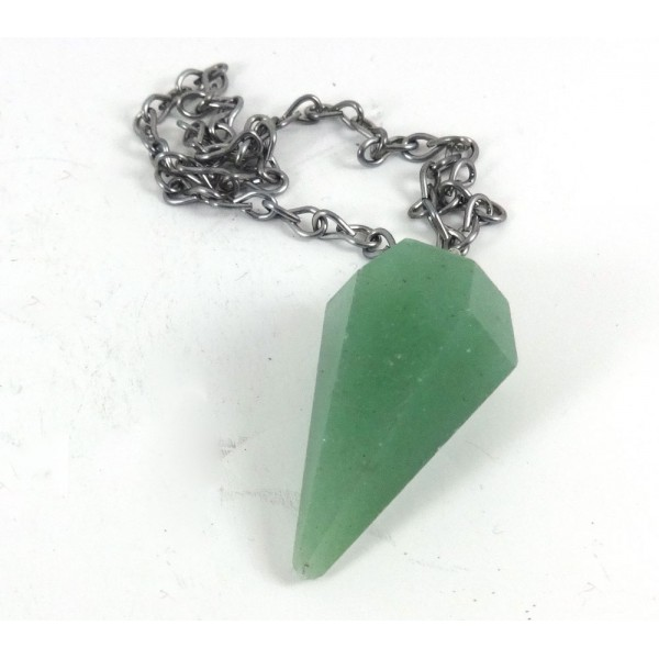 Aventurine Faceted Pendulum