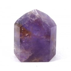 Polished Amethyst and Ametrine Point