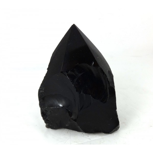 Carved Black Obsidian Point