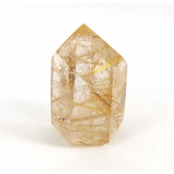 Polished Rutilated Clear Quartz Point
