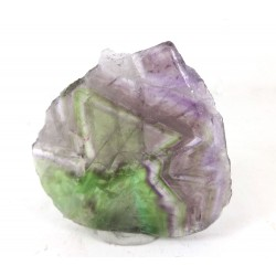 Colourful Fluorite Slice with Triangular Marking
