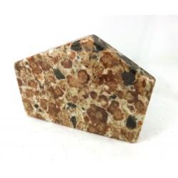 Spessartine Garnet Limestone Polished Slice