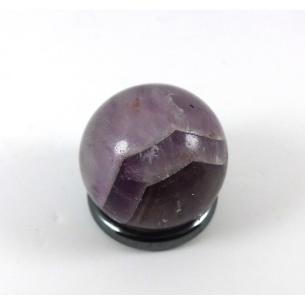 Small Chevron Amethyst Crystal Ball