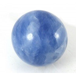 Blue Calcite Crystal Sphere from Madagascar