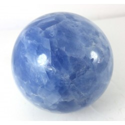 Blue Calcite Crystal Sphere - discounted
