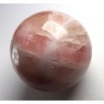 Peach and White Calcite Sphere