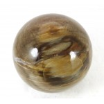 Patterned Petrified Wood Crystal Sphere