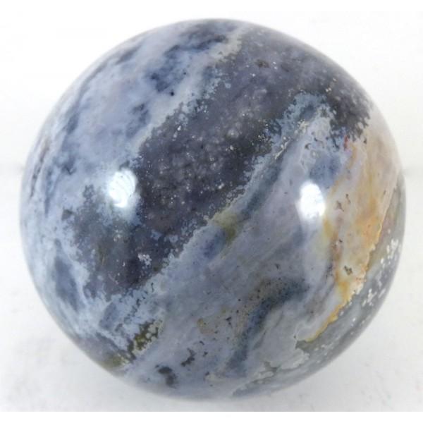 Speckled Blue Grey Jasper Crystal Ball
