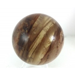 Quartz with Iron and Inclusions Sphere