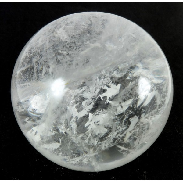 62mm Clear Quartz Crystal Sphere from Madagascar