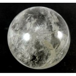 57mm Clear Quartz Crystal Ball from Madagascar