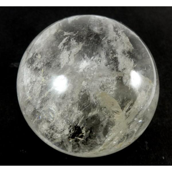 57mm Clear Quartz Crystal Ball from Madagascar