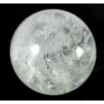 55mm Clear Quartz Carved Crystal Ball from Madagascar