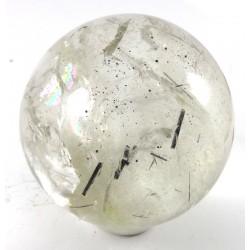 58mm Clear Quartz Crystal Ball with Tourmaline