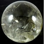 58mm Clear Quartz Crystal Ball with Tourmaline