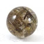 Golden Rutilated Quartz Crystal Ball